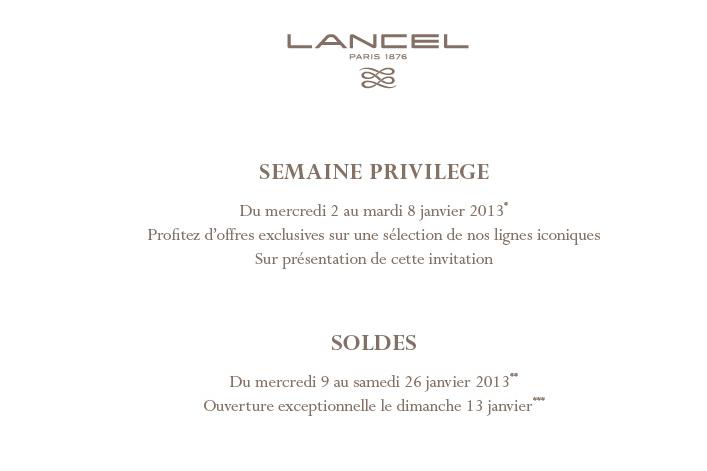 Semaine Privilège chez LANCEL!!!