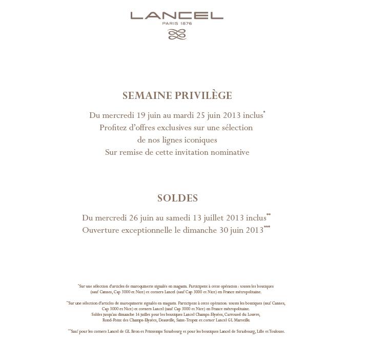 Semaine Lancel